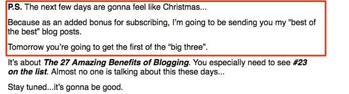 blogging your passion postscript