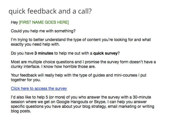 survey email