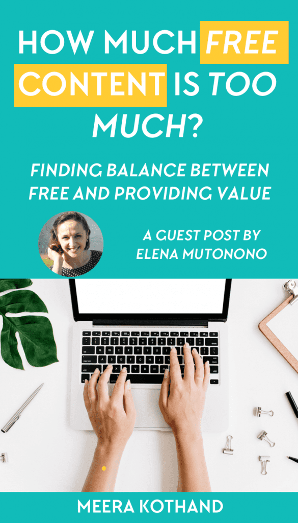 How much free is too much? Can too much free content ruin your business? This post gives you some questions to think about when it comes to free content. You'll also know the critical ingredients your free content needs so that the reader wants to work with you.